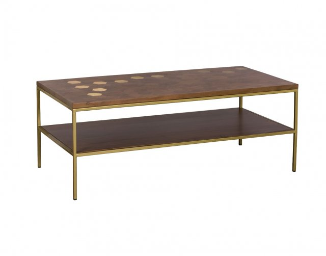 Baker Furniture Miami Solid Acacia Wood Coffee Table
