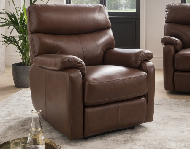 Premier Monet Armchair in Butterscotch Leather - STOCK