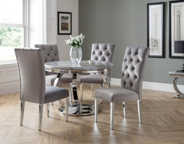 Arundel Marble Round Dining Table Set, Round Dining Room Table And Chairs