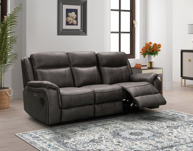 Hayden Park Sofas The Ultimate Smart 3 Seater Power Recliner Sofa with Drop Down Table