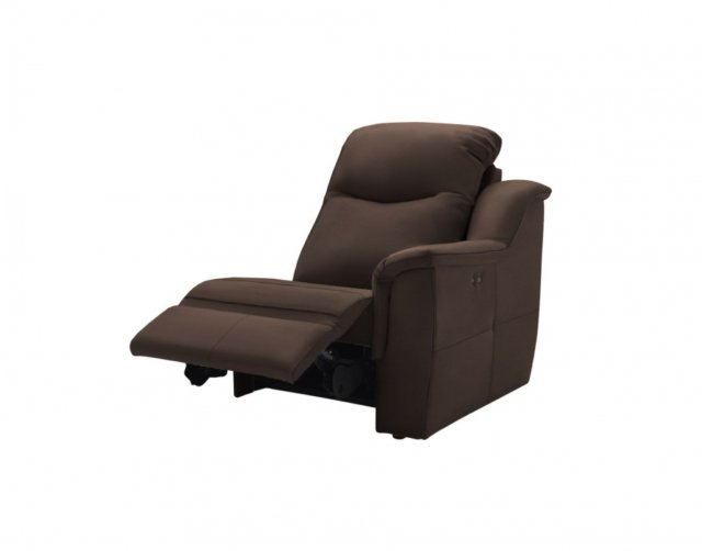 G Plan Upholstery G Plan Firth Leather Small RHF Power Recliner Unit