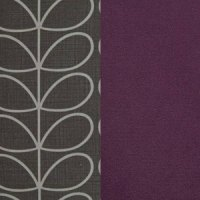 Top: Linear Stem Charcoal Light Grey / Sides: Glyde Aubergine