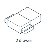 2 Drawers - Either Side