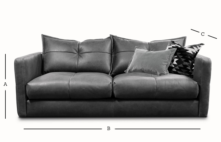 Tod 3 Seater Sofa Dimensions