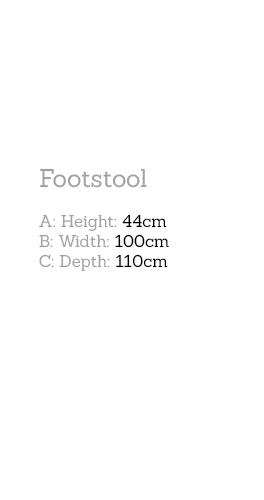 Tod Footstool Dimensions