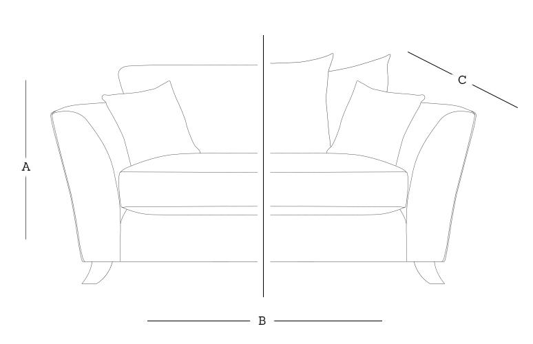 Harrison 2 Seater Dimensions