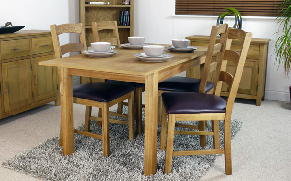 Canada Oak Extending Dining Set