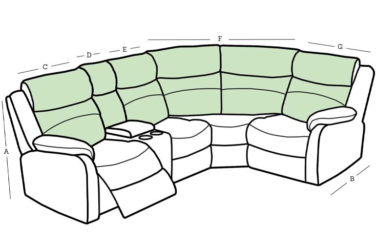 Ellena Corner Sofa Dimensions